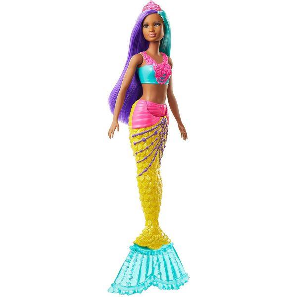 MATTEL GJK10 - Barbie - Dreamtopia Meerjungfrau Puppe, türkis und lila Haare