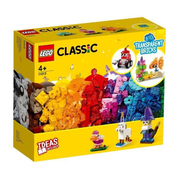 LEGO 11013 - Classic - Kreativ-Bauset mit durchsichtigen Steinen