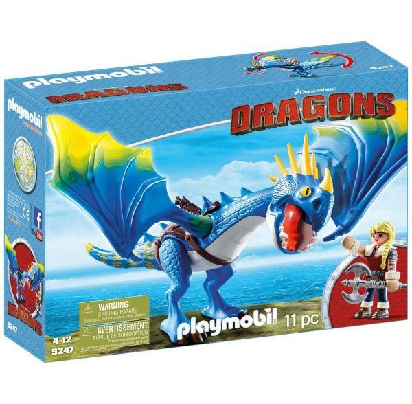 PLAYMOBIL 9247 - Dragons - Astrid und Sturmpfeil