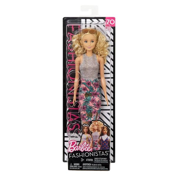 MATTEL FJF35 - Fashionistas - Barbie in Rock mit Ananas-Print