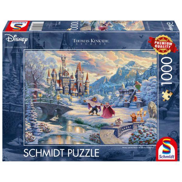 SCHMIDT 59671 - Puzzle - Thomas Kinkade, Disney Die Schöne das Biest 1000 Teile