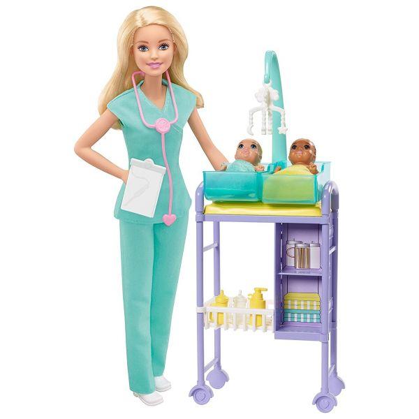 MATTEL GKH23 - Barbie - Kinderärztin Puppe blond Spielset