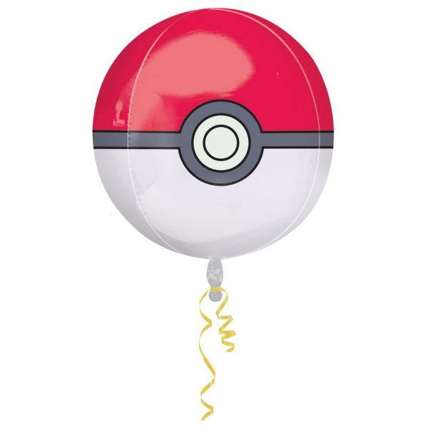 AMSCAN 2946401 - Folienballon Orbz - Pokemon Pokeball, 38cm