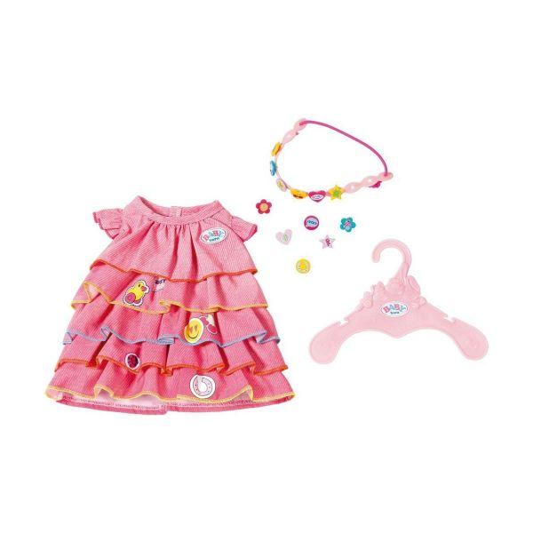 Zapf Creation 824481 - BABY born® Bekleidung - Sommerkleid Set mit Pins, 43cm