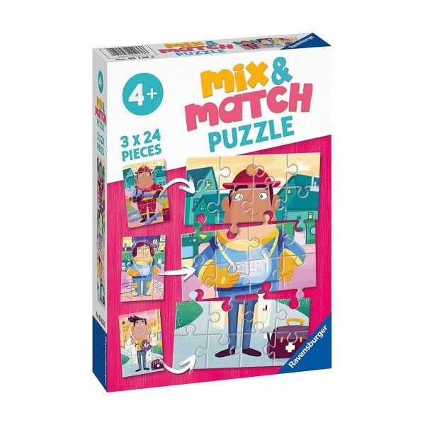 RAVENSBURGER 05136 - Mix & Match Puzzle - Meine liebsten Berufe, 3x24 Teile