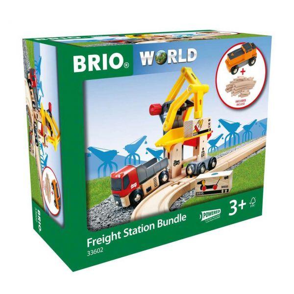 BRIO 33602 - World - Super Bundle Frachtverladestation mit Batterie-Lok