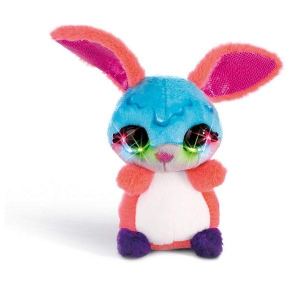 NICI 42479 - Nicidoos Flashies - Bunny Dimdam Crazy, 16 cm