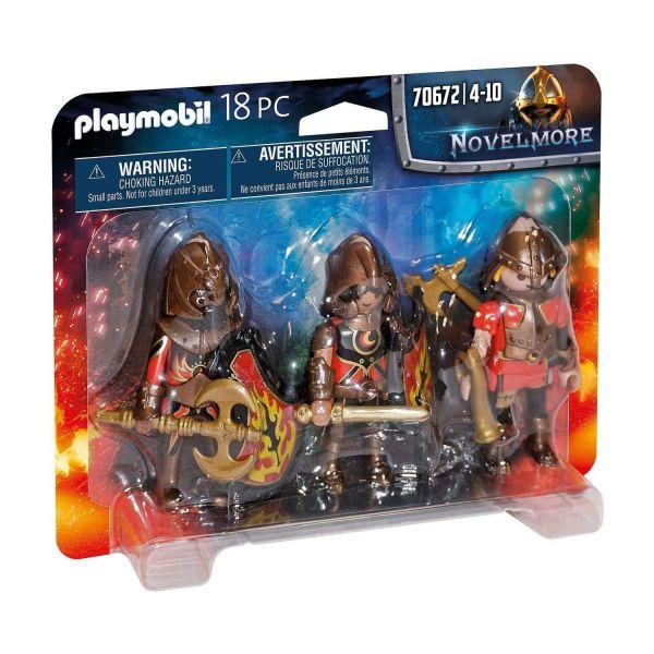 PLAYMOBIL 70672 - Novelmore - 3er Set Burnham Raiders