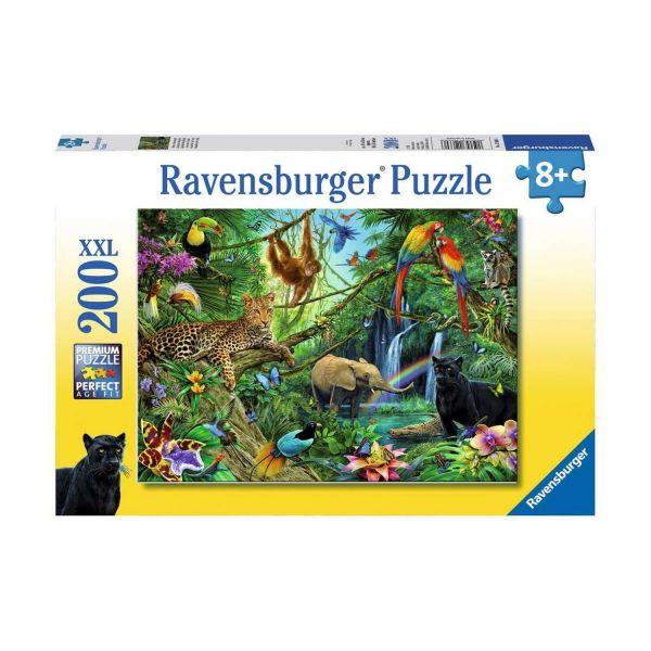 RAVENSBURGER 12629 - Puzzle - Tiere im Dschungel, 200 Teile XXL