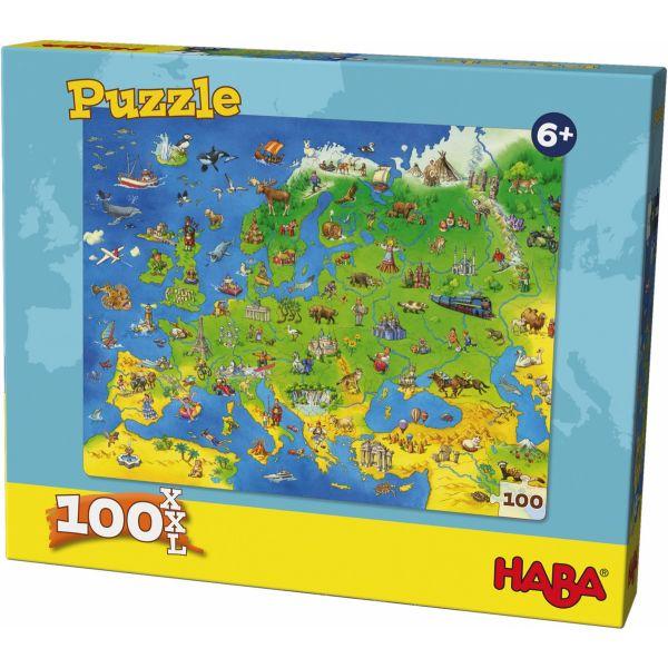 HABA 304220 - Puzzle - Länder Europas, 100 Teile XXL
