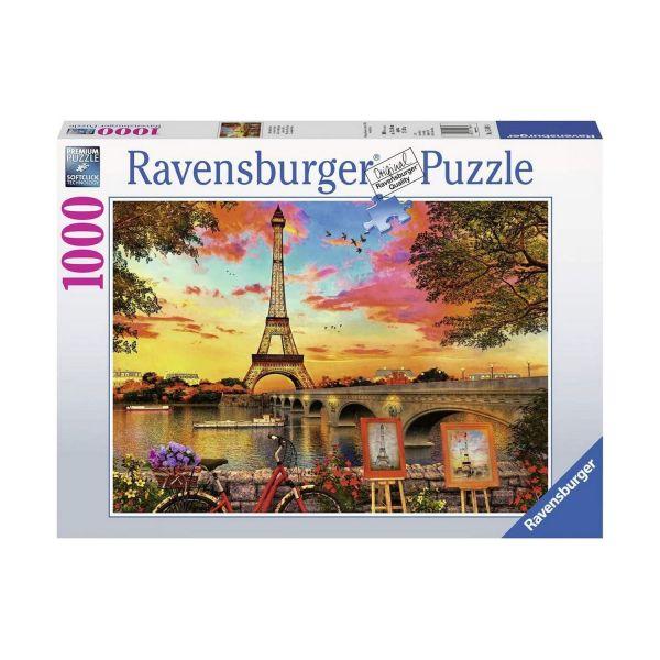 RAVENSBURGER 15160 - Puzzle - Abendstimmung Paris Le quais de Seine, 1000 Teile