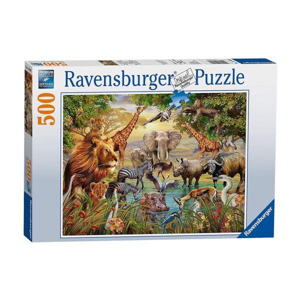 RAVENSBURGER 14809 - Puzzle - Am Wasserloch, 500 Teile