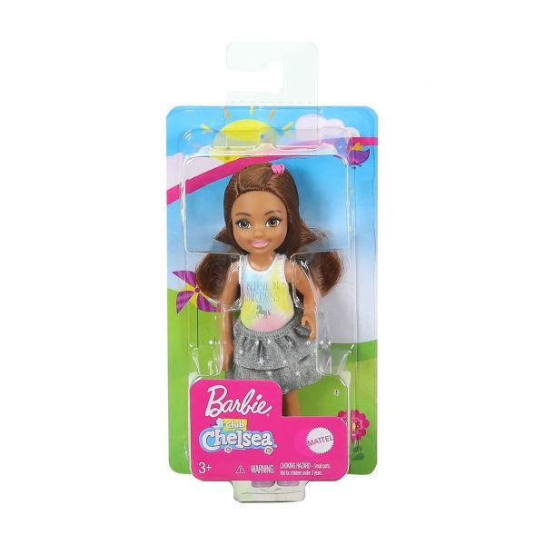 MATTEL GHV63 - Barbie - Chelsea Puppe mit I believe in unicorns Shirt
