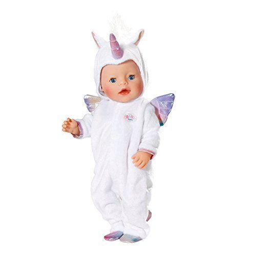 Zapf Creation 824573 - BABY born® Bekleidung - Kuschelanzug Einhorn