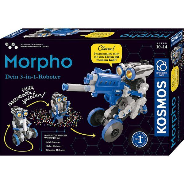 KOSMOS 620837 - Experimentierkasten - Morpho - Der 3-in-1 Roboter