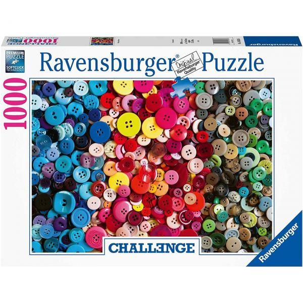 RAVENSBURGER 16563 - Puzzle - Challenge Knöpfe, 1000 Teile