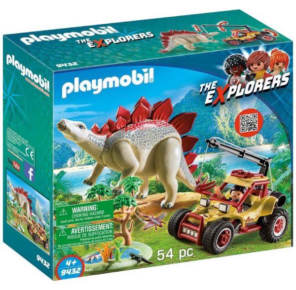 PLAYMOBIL 9432 - The Explorers - Forschermobil mit Stegosaurus