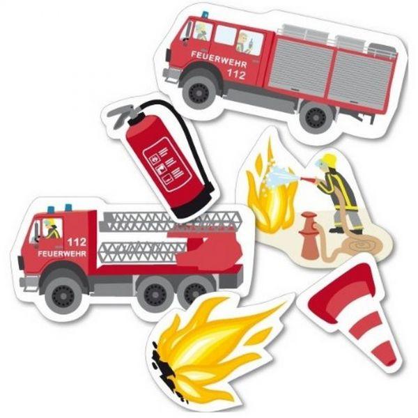 DH 302576 - Geburtstag & Party - Feuerwehr XXL Konfetti, 24 Stk., ca. 5 x 10 cm