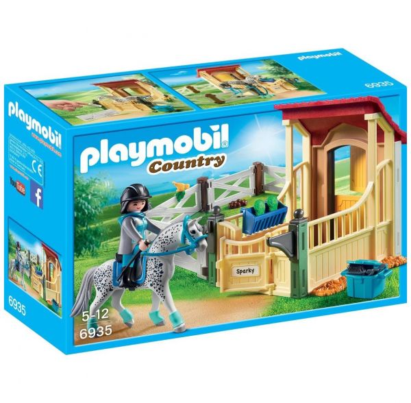 "PLAYMOBIL 6935 - Country Reiterhof - Pferdebox ""Appaloosa"""