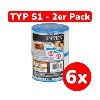 INTEX 29001 - Filterkartusche, Typ S1, 12 Stück