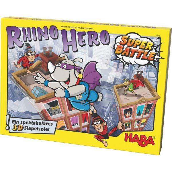 HABA 302808 - Gesellschaftsspiel - Rhino Hero - Super Battle