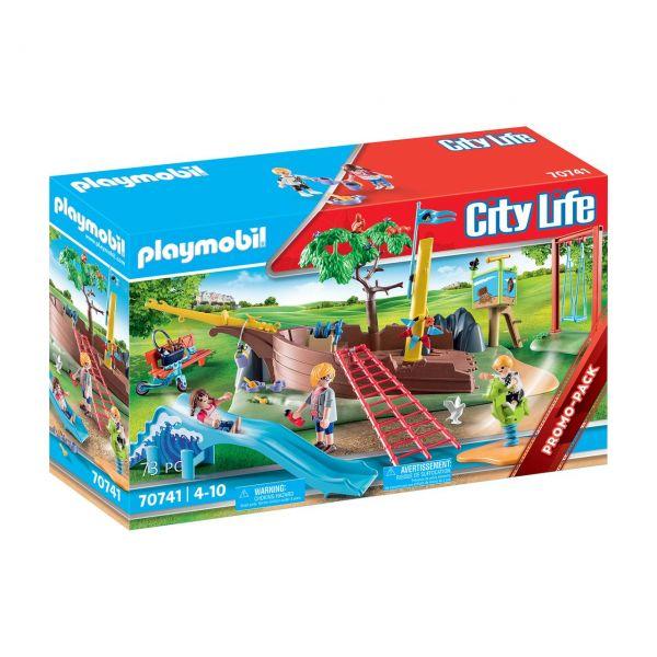 PLAYMOBIL 70741 - City Life - Abenteuerspielplatz mit Schiffswrack
