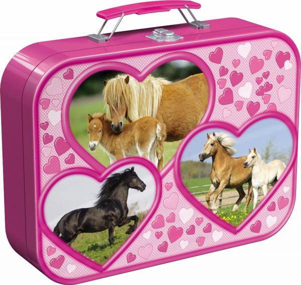SCHMIDT 55588 - Puzzle Koffer - Pferde