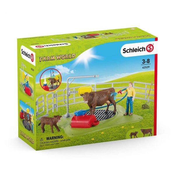 SCHLEICH 42529 - Farm World - Kuh Waschstation