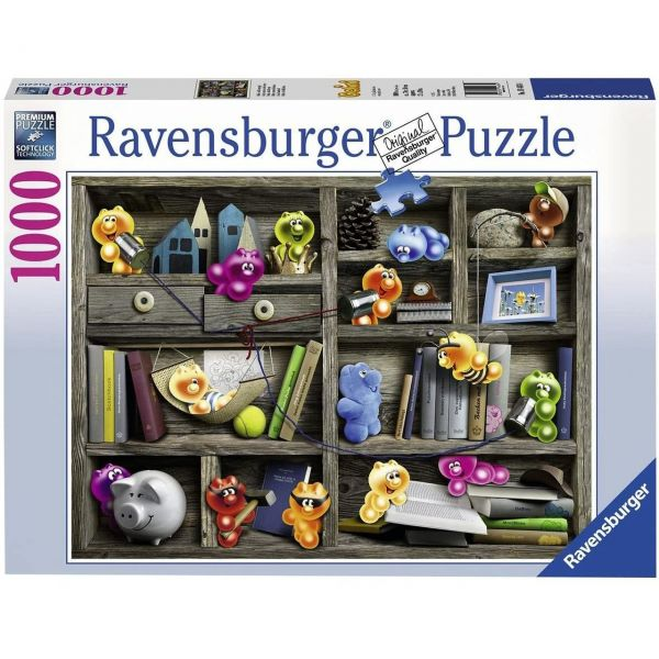 RAVENSBURGER 19483 - Puzzle - Gelini im Bücherregal, 1000 Teile