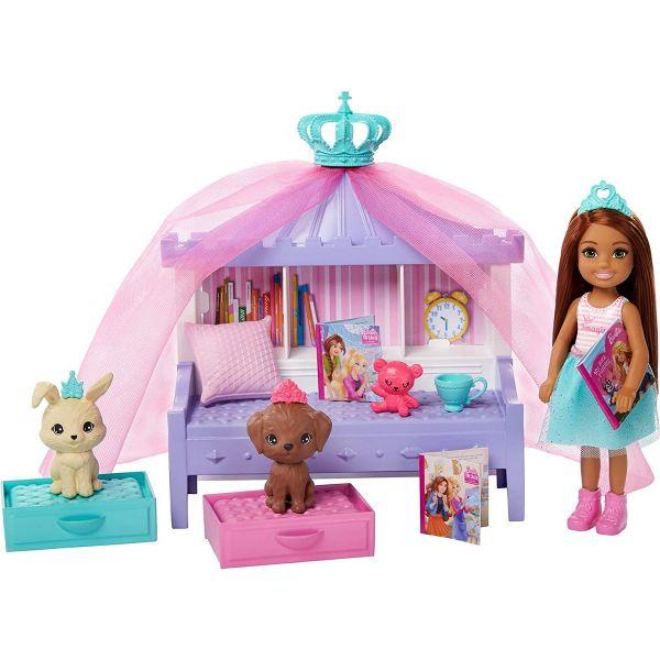 MATTEL GML74 - Barbie - Prinzessinnen Abenteuer Chelsea Märchenstunde Set