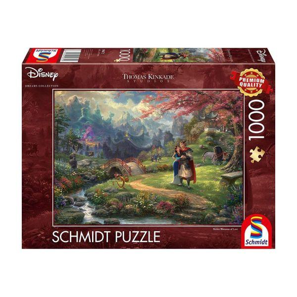 SCHMIDT 59672 - Puzzle - Thomas Kinkade, Disney Mulan, 1000 Teile