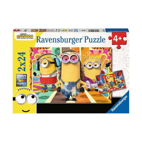 RAVENSBURGER 05085 - Puzzle - Die Minions in Aktion, 2x24 Teile