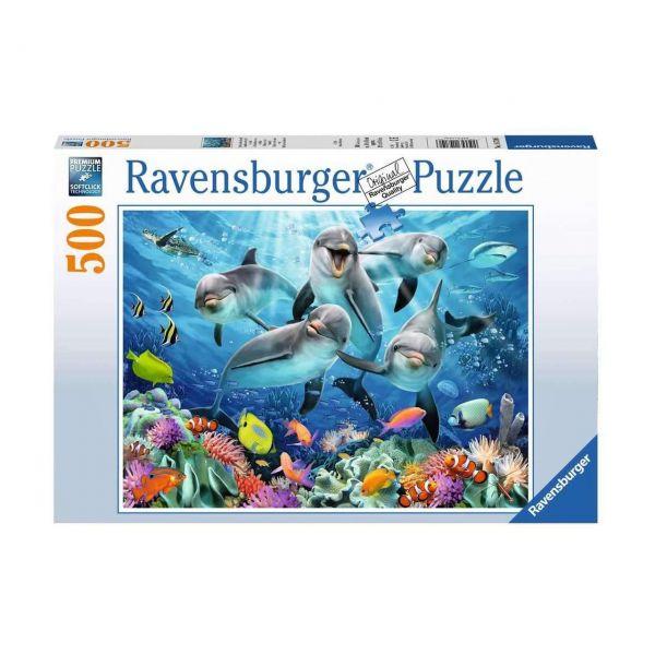 RAVENSBURGER 14710 - Puzzle - Delfine im Korallenriff, 500 Teile