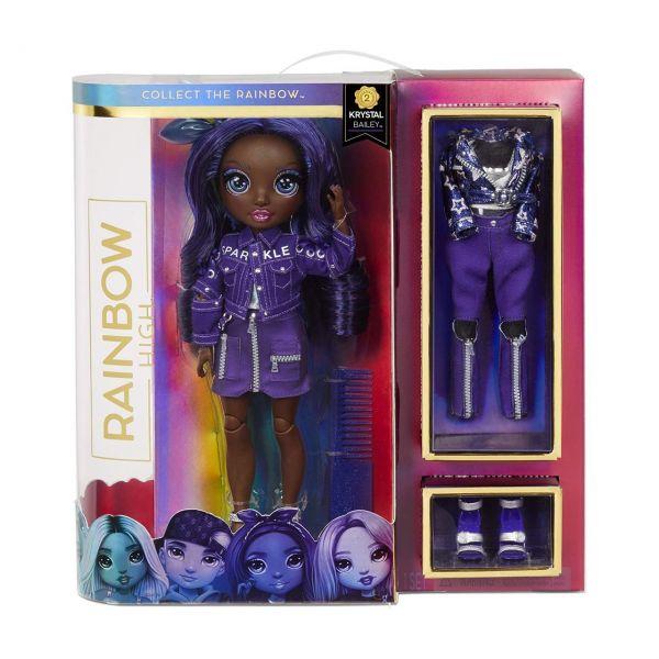 MGA 572114EUC - Rainbow High - Fashion Doll Serie 2, Krystal Bailey, Indigo