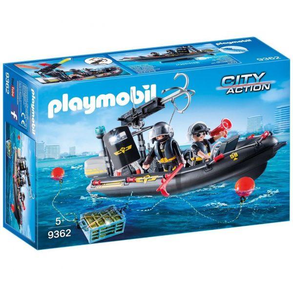 PLAYMOBIL 9362 - City Action SEK - SEK-Polizei-Schlauchboot