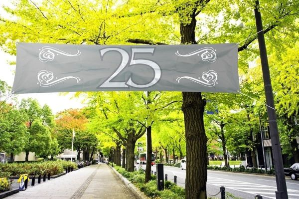 FOLAT 21482 - Geburtstag & Party - Banner Jahrestag 25