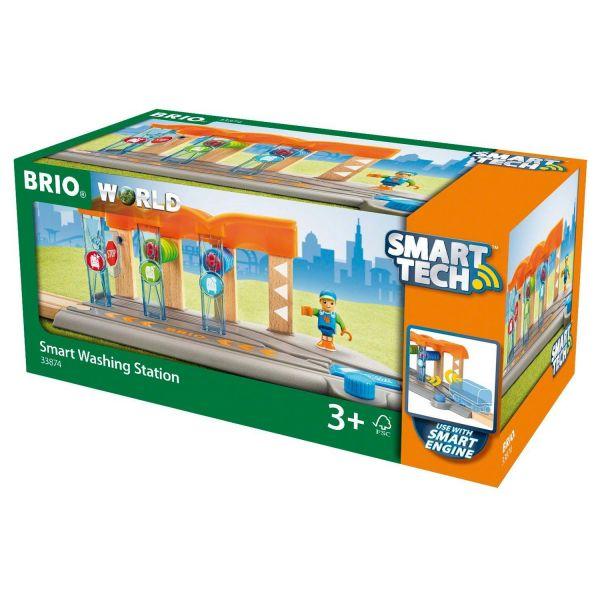 BRIO 33874 - Bahn - Smart Tech Waschanlage