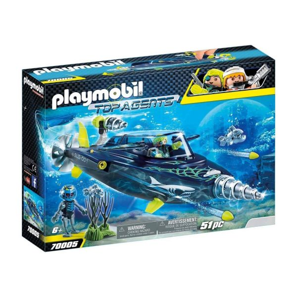 PLAYMOBIL 70005 - Top-Agents - TEAM S.H.A.R.K. Drill Destroyer