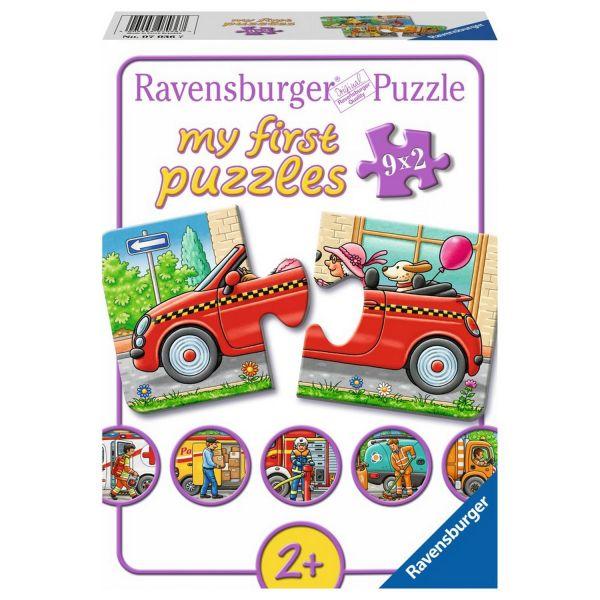 RAVENSBURGER 07036 - My first puzzles - Allerlei Fahrzeuge, 9 x 2 Teile