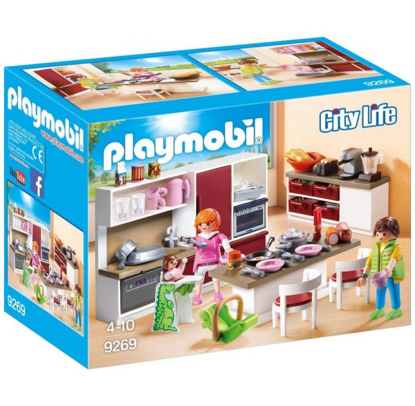 PLAYMOBIL 9269 - City Life Wohnhaus - Große Familienküche