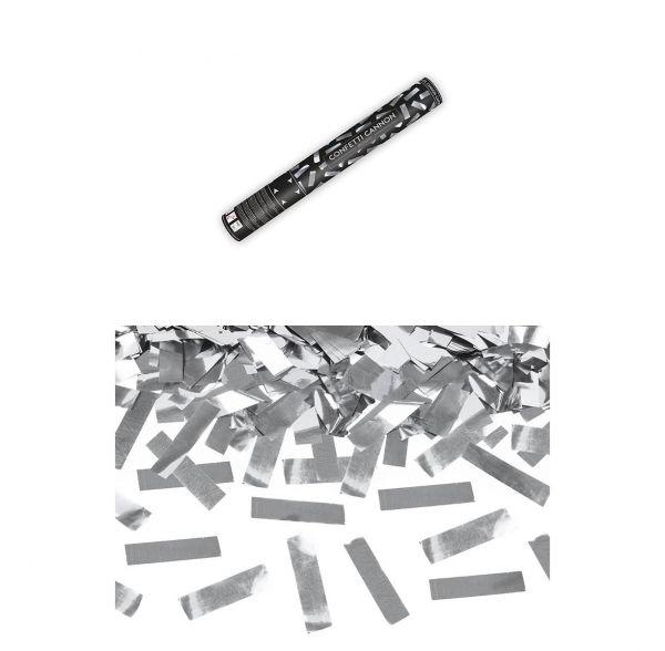 Konfetti Kanone Silber 40cm