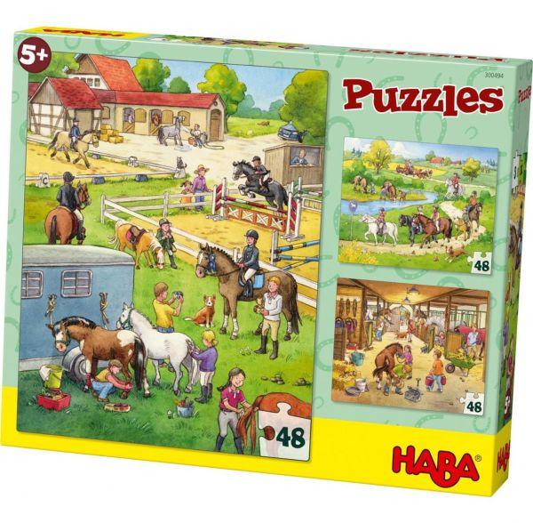 HABA 300494 - Puzzle - Pferdehof