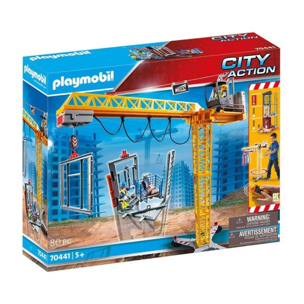 PLAYMOBIL 70441 - City Action - RC-Baukran mit Bauteil