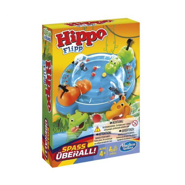 HASBRO B1001 - Kinderspiel - Hippo Flip Kompakt