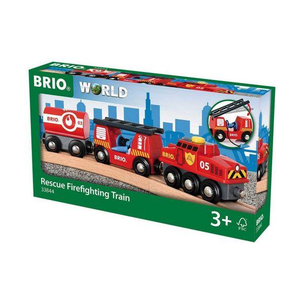 BRIO 33844 - Bahn - Feuerwehr-Löschzug
