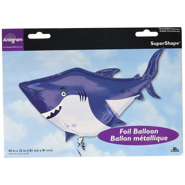 AMSCAN 33774 - Folienballon - SuperShape Ocean Buddies Hai, 101 x 81 cm