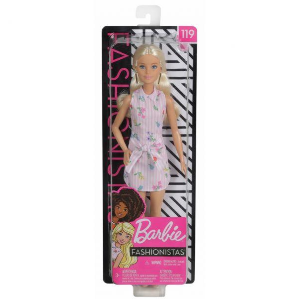 MATTEL FXL52 - Barbie - Fashionistas Puppe im Blumenkleid & Cowboystiefeln