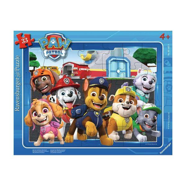 RAVENSBURGER 05145 - Rahmenpuzzle - Paw Patrol - Auf zum nächsten Abenteuer!, 33 Teile