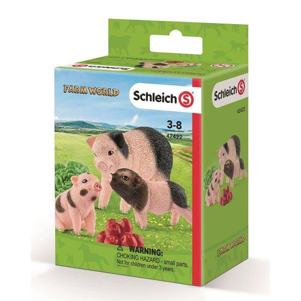 SCHLEICH 42422 - Farm World - Mini-Schwein Mutter und Ferkel