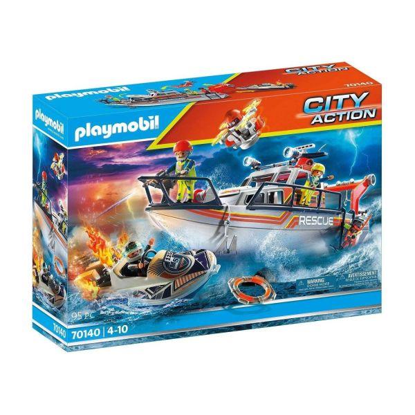 PLAYMOBIL 70140 - City Action - Seenot: Löscheinsatz mit Rettungskreuzer